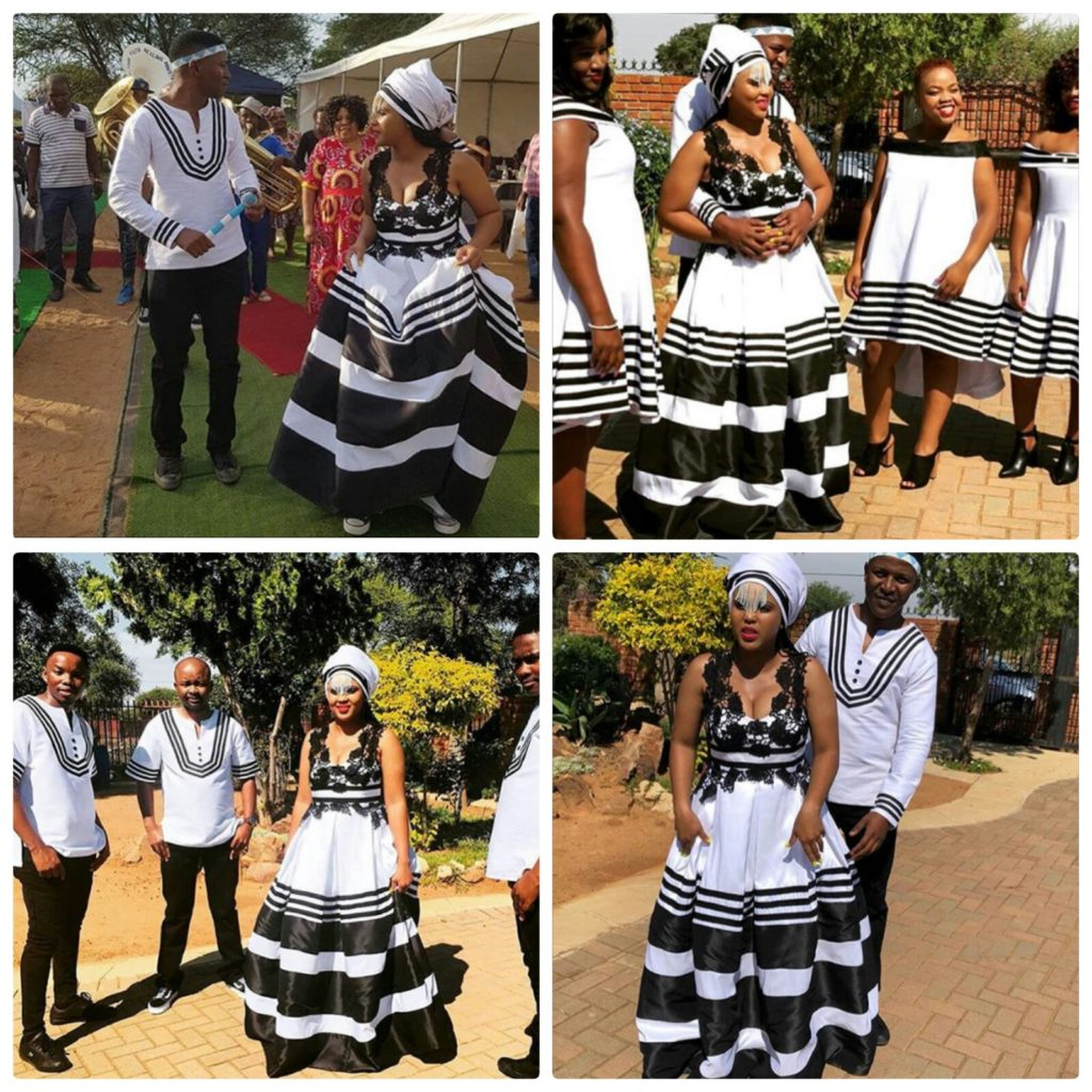 b206b1409aa Couple and Squad In Xhosa Umbhaco Traditional Wedding Attire ...