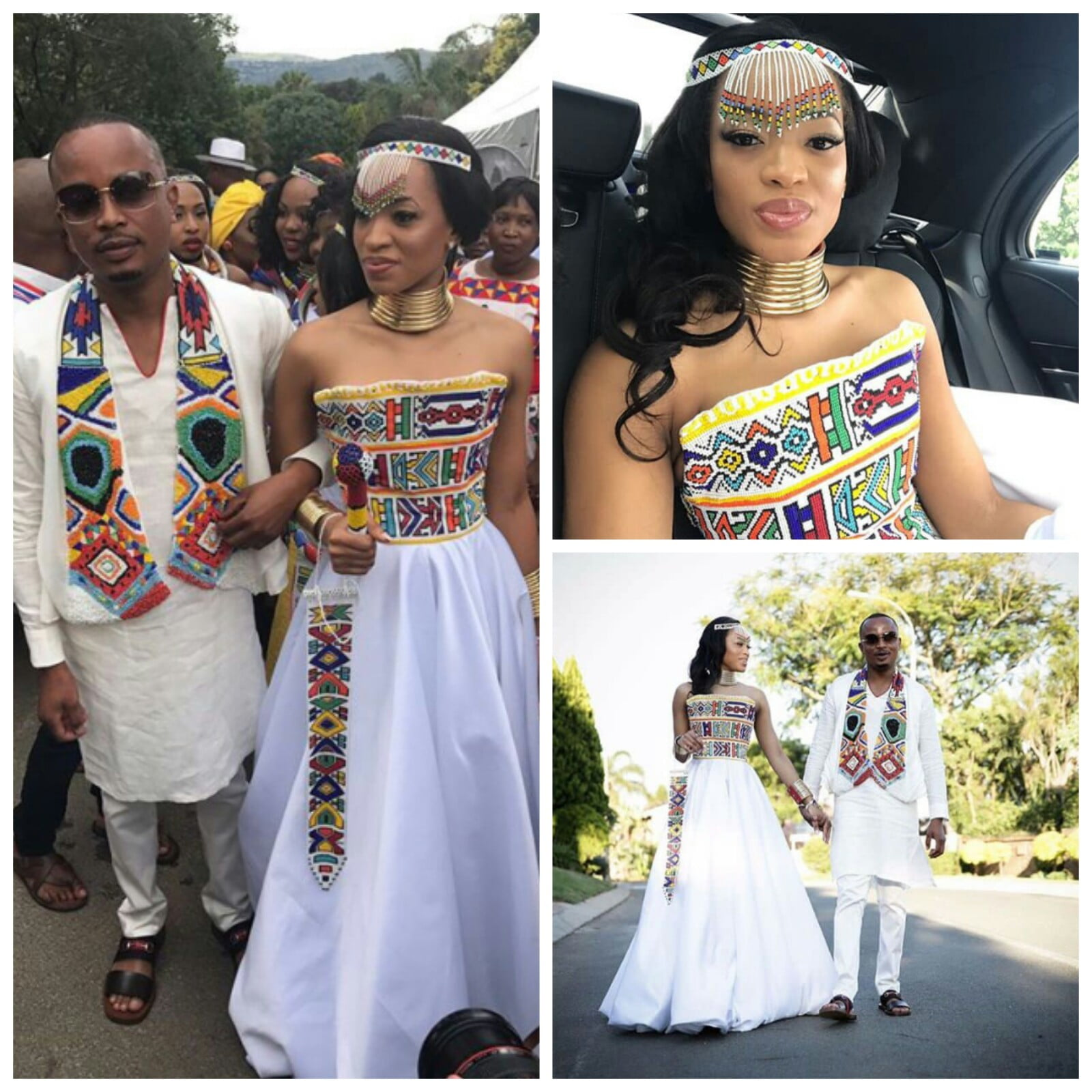 Lovely Couple In Ndebele Traditional Wedding Attire