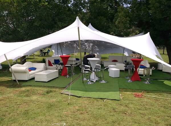 Stretch Tents White Couches And Ottomans For Hire Clipkulture