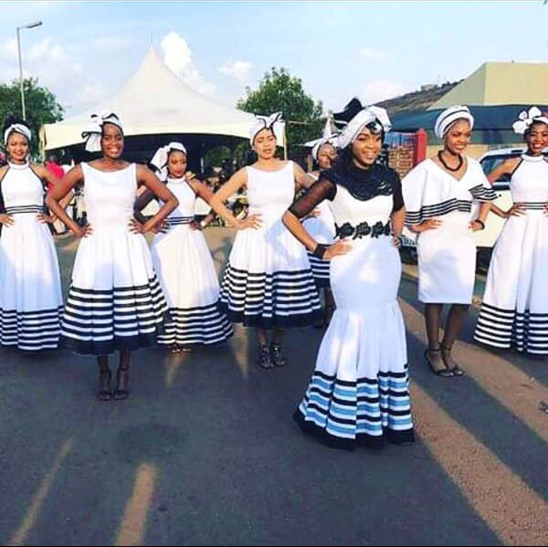 Beautiful Bride And Maidens In Xhosa Traditional Wedding