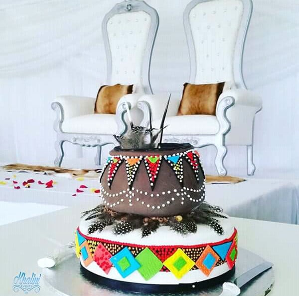 Couple Stage And Zulu Wedding Cake Clipkulture Clipkulture