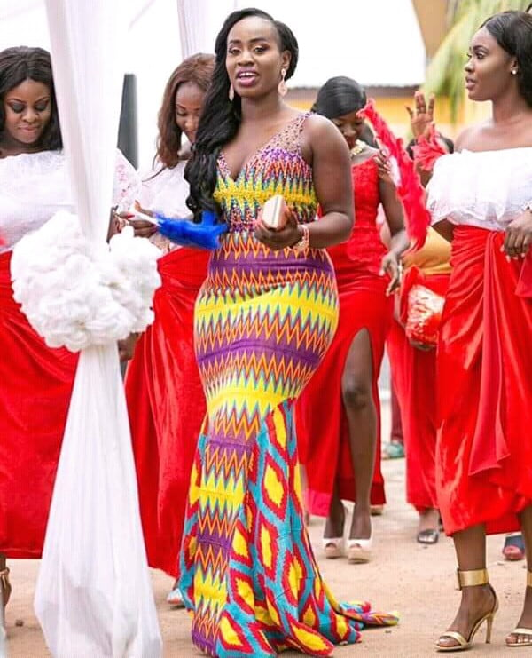 Kente Wedding Gowns: Kente Wedding Dresses With Beads