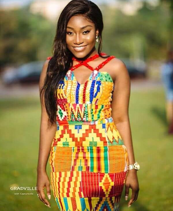 Kente Wedding Gowns: Lovely Kente Dress For Engagement