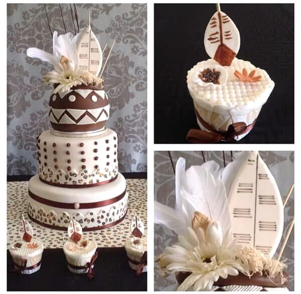 Traditional Wedding Cake With Zulu Shields Clipkulture Clipkulture