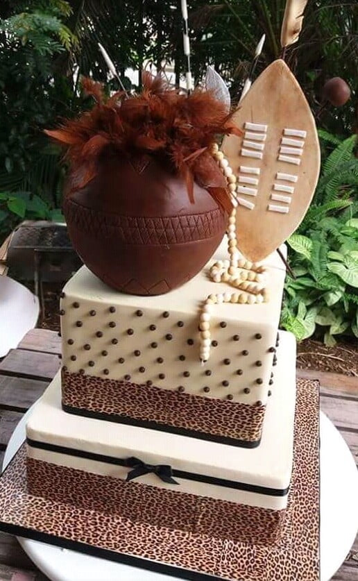 Beautiful Zulu Wedding Cake Clipkulture Clipkulture