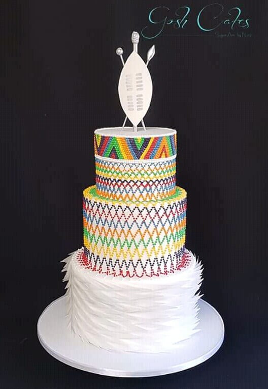 Colourful Zulu Wedding Cake Clipkulture Clipkulture