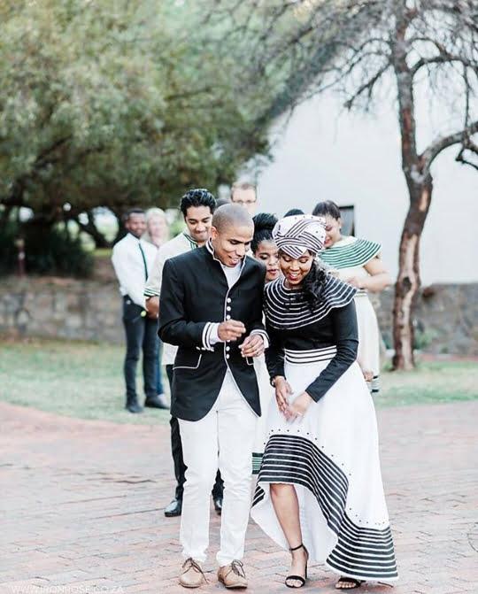 Xhosa Couple In Traditional Wedding Attire Clipkulture