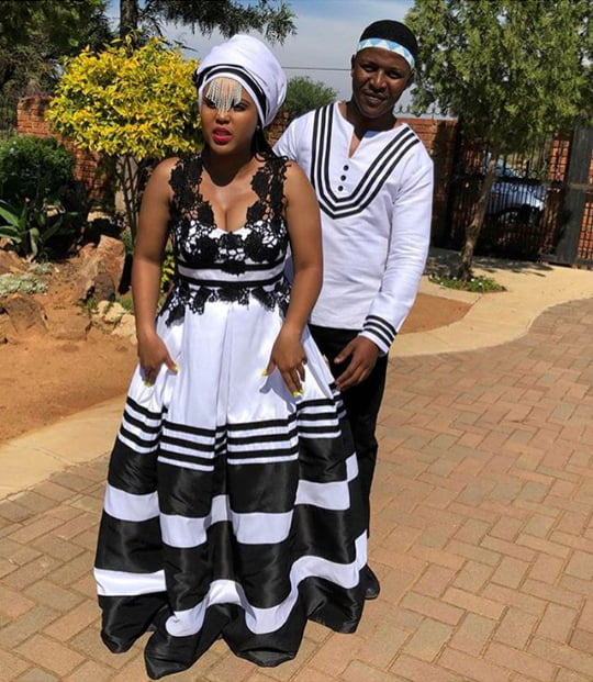 Couple In Xhosa Umbhaco Wedding Clothes By Unbuttond