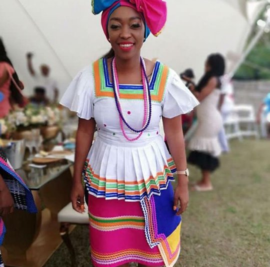 African Makoti In Sepedi Traditional Wedding Attire