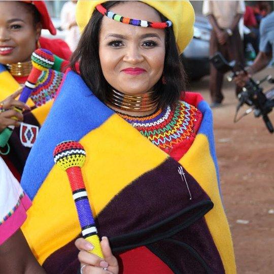 Bride In Ndebele Traditional Wedding Attire