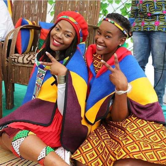 Beautiful Bride And Maid In Ndebele Traditional Attire
