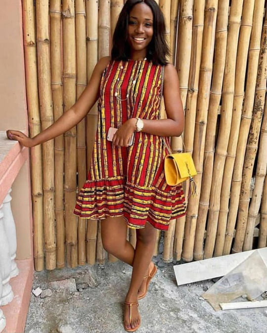 Casual Ankara Sleeveless Short Dress