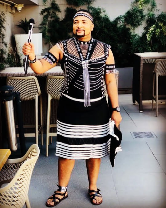 7622a3bb3bd Man In Well Designed Xhosa Traditional Attire