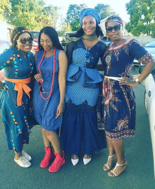 Bride In Blue Shweshwe Umembeso Wedding Dress , Clipkulture