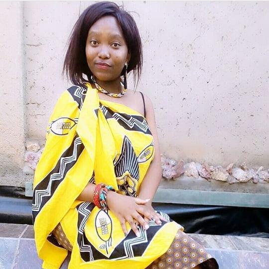 Wedding Guest In Yellow Swati Emahiya Attire For Umembeso