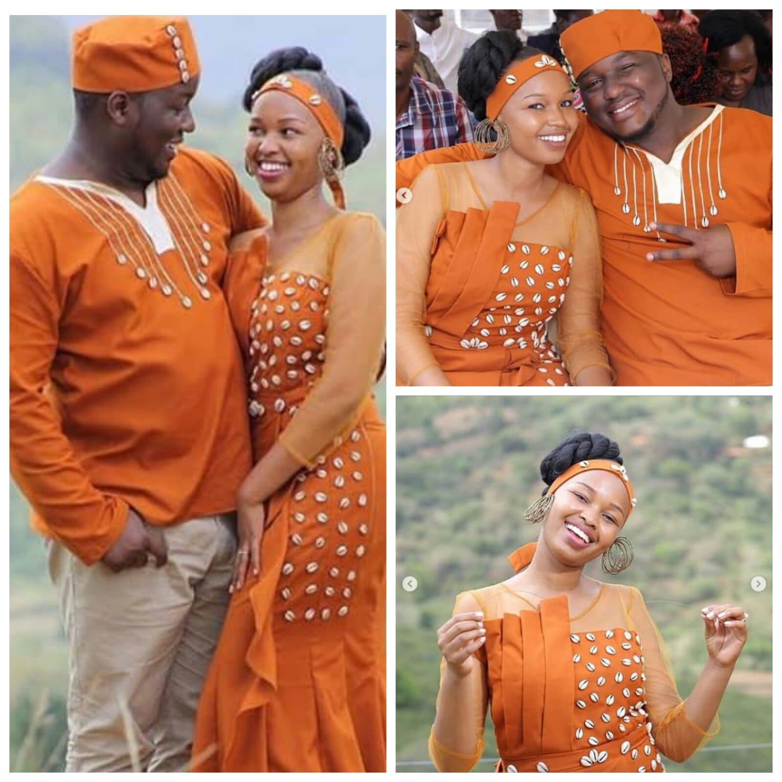 Kenyan Couple In Ruracio Traditional Attire Kikuyu