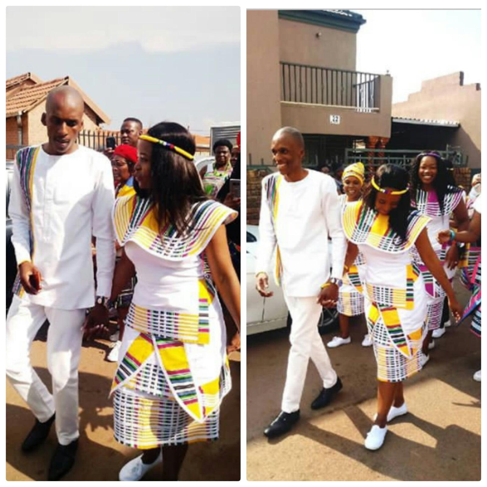 Venda Traditional Modern Dresses: Bride & Groom In Beautiful Venda Traditional Wedding