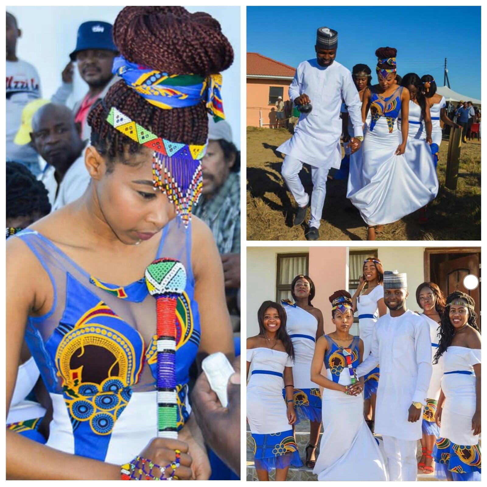 Xhosa Bride & Nigerian Groom With Squad In Traditional Lobola ...