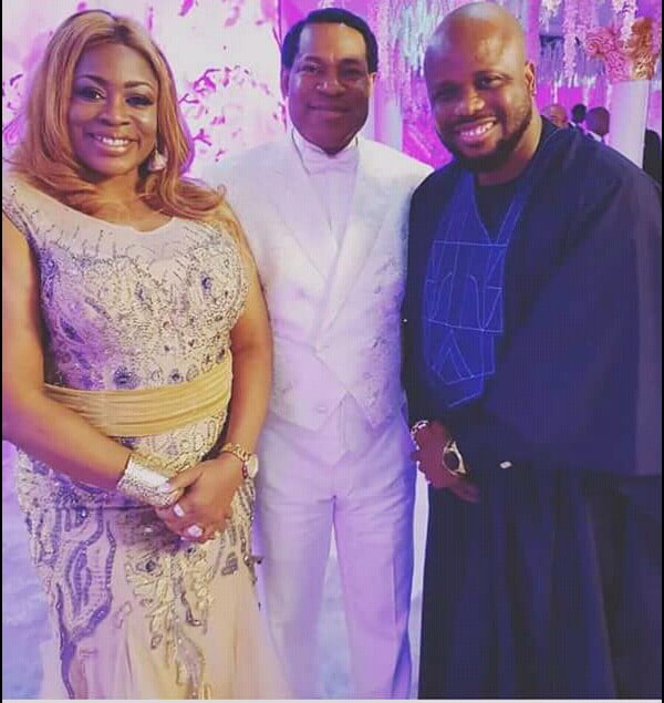 Sinach and Husband, Joe Egbu with Father of the bride ...