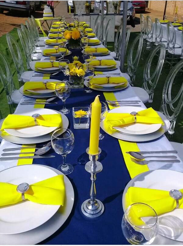 Navy Yellow Silver And White Wedding Decor Clipkulture Clipkulture