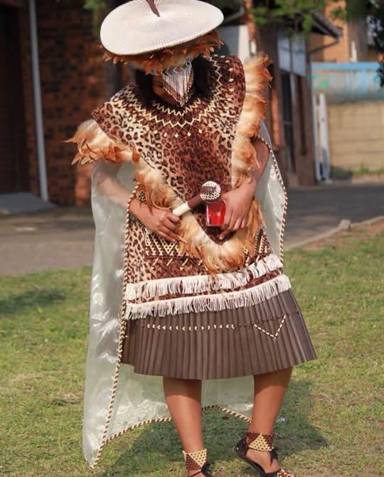 880b39ce81f1c Bride In Zulu Traditional Wedding Attire  Imvunulo