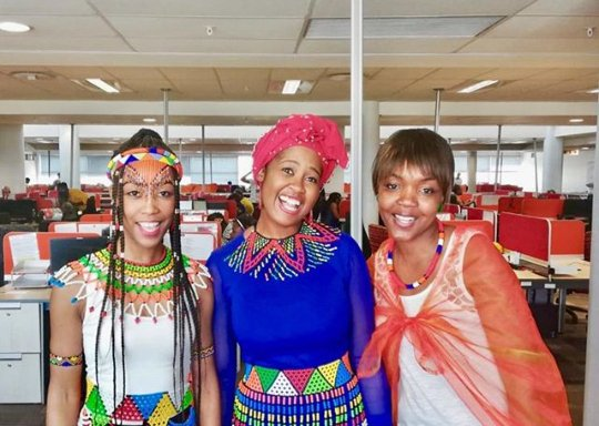 Zulu Girls In Modern Traditional Attire