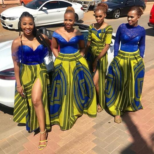 African bridesmaid dress ideas