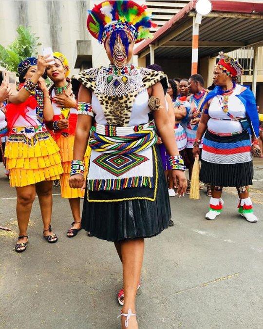 Thandeka Mazulu In Her Zulu Traditional Wedding Attire Imvunulo