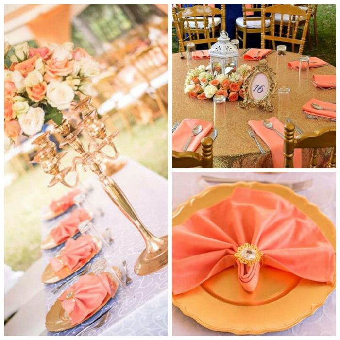Gold And Peach Theme Decor Clipkulture Clipkulture