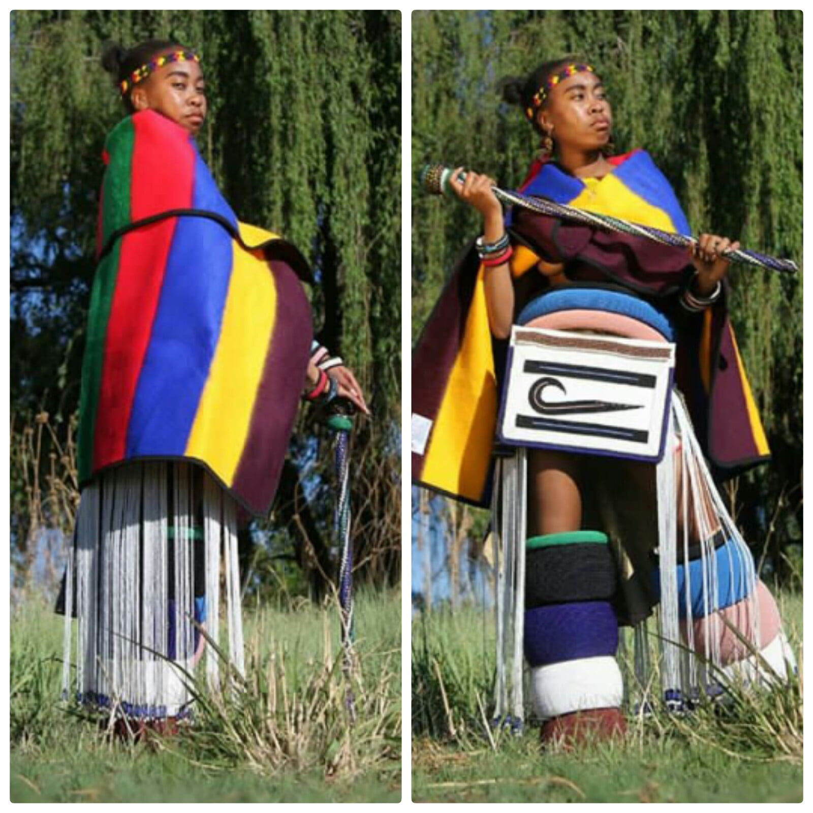 Girl In Full Ndebele Traditional Attire Clipkulture