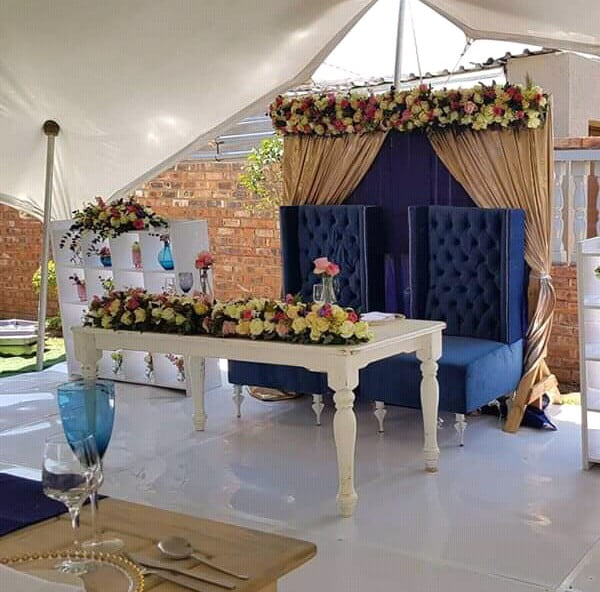 Tswana Theme Couple Stage