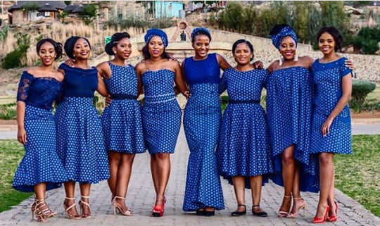 Classic Wedding Dresses 2018: Sotho Traditional Seshoeshoe Print Inspired Dresses
