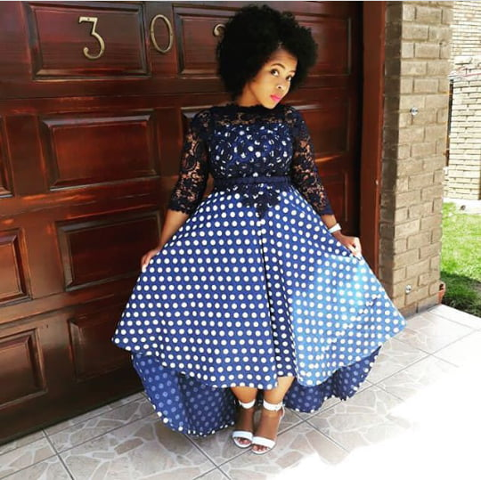 Lovely Seshoeshoe Dress With Black Lace Top