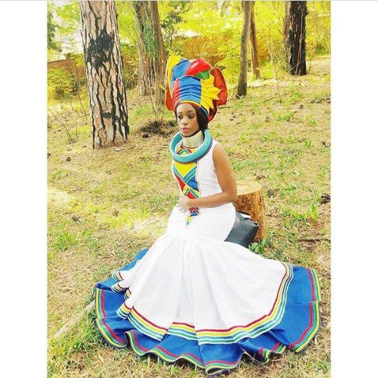 Makoti In Beautiful Sepedi Traditional Wedding Attire