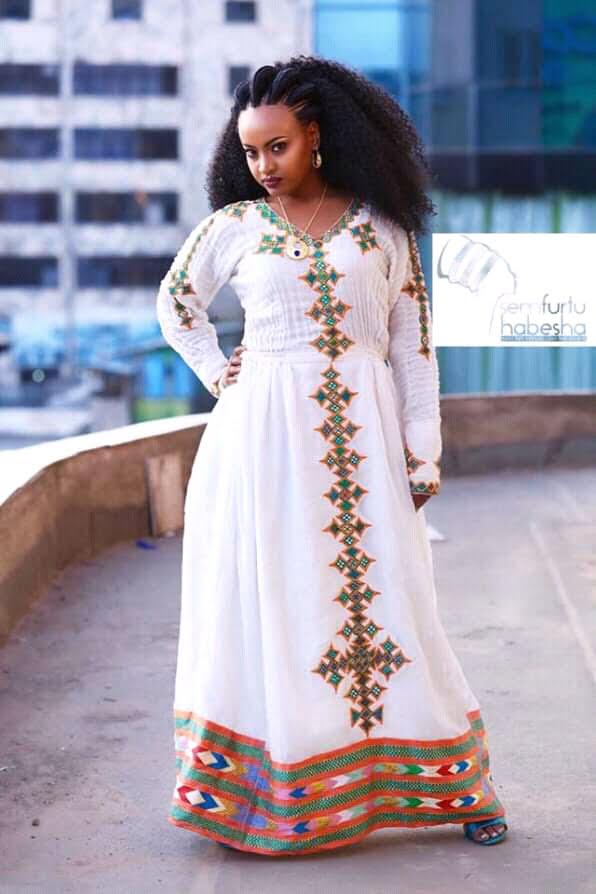 Beautiful Modern Habesha Kemis Traditional Wear