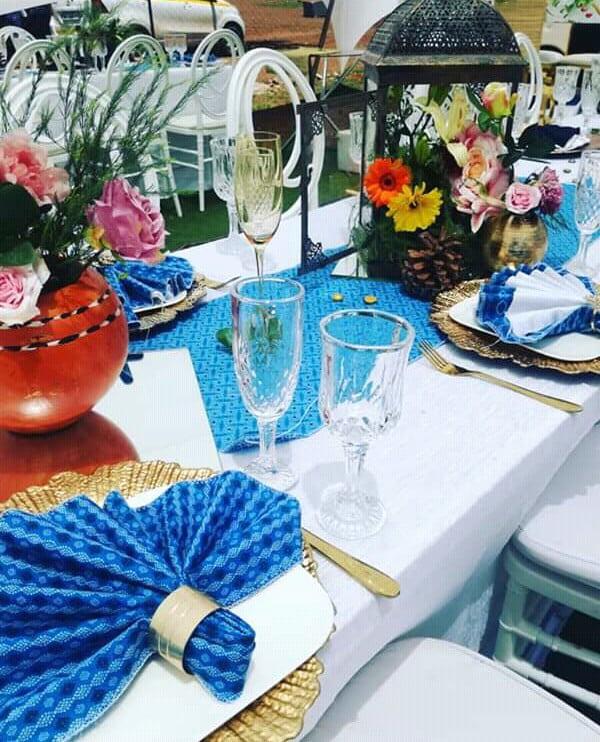Modern Wedding Decoration Ideas: Shweshwe Themed Modern Traditional Wedding Decor