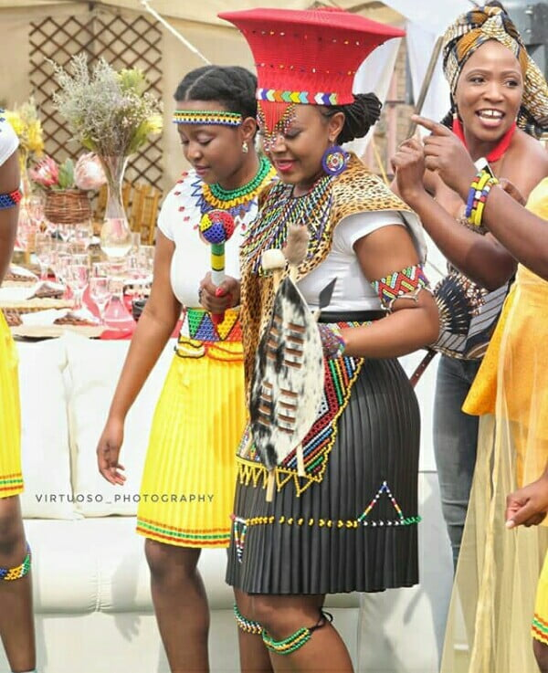 Zulu Makoti In Imvunulo Traditional Wedding Attire Clipkulture