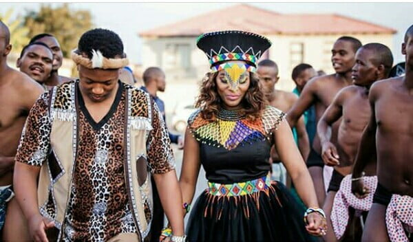 Couple In Zulu Traditional Wedding Attire