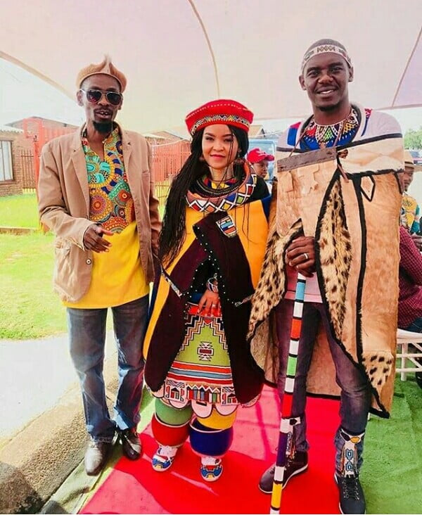 Bride And Groom In Ndebele Traditional Wedding Attire