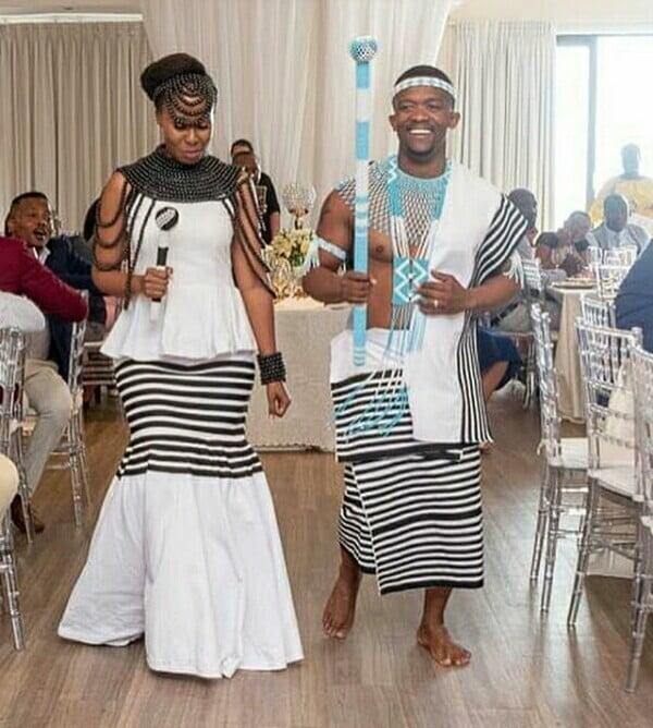 4eb5cacab0f Xhosa Couple In Umbhaco Traditional Wedding Attire