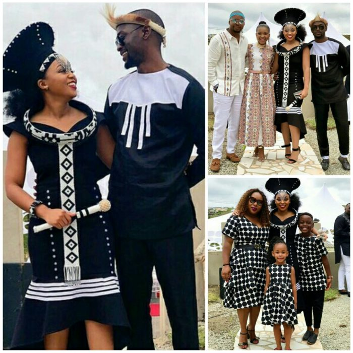 7e4b4c2054e Couple and Family In Xhosa Inspired Traditional Wedding Outfit ...