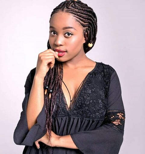 Sive Mabuya in lovely cornrows with Extension