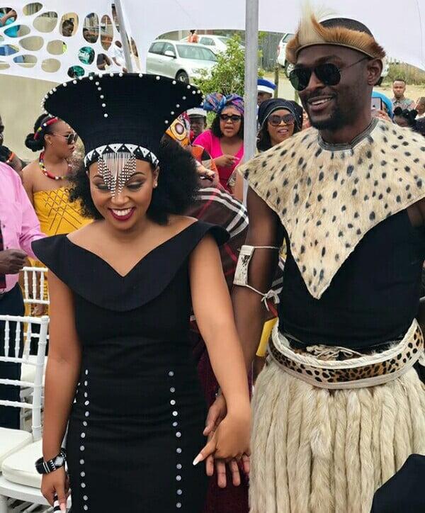 3052e649b4666 Couple In Xhosa and Zulu Traditional Wedding Attire
