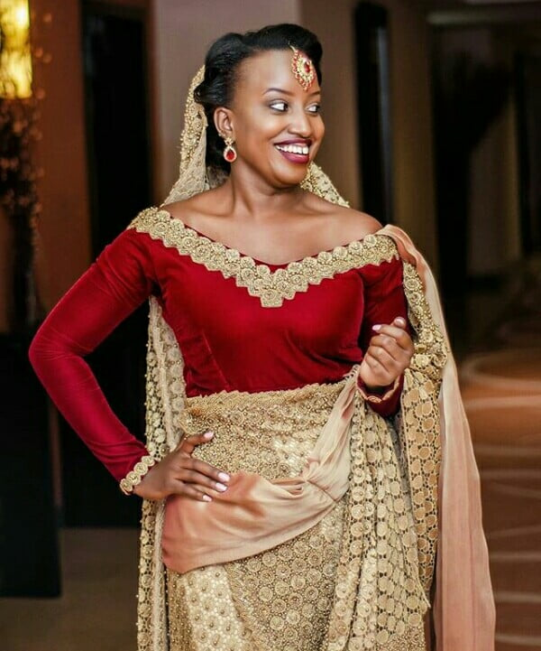 Bride In Wine And Gold Rwandan Mushanana Traditional