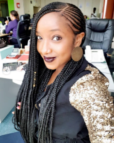Sive Mabuya In Kinky Braids And Beads Hairstyle Clipkulture