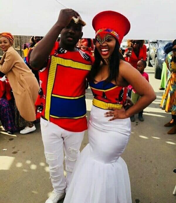 Swati Couple In Emahiya Inspired Wedding Outfits For