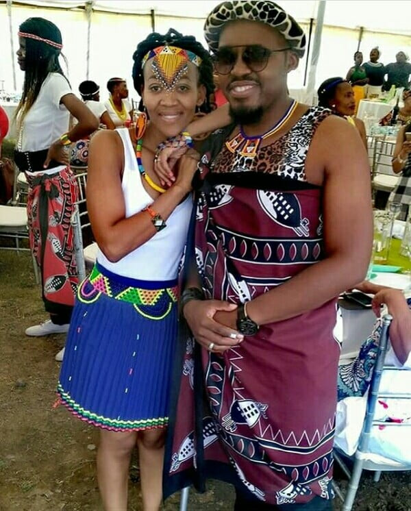 Swazi And Zulu Couple In Traditional Attire