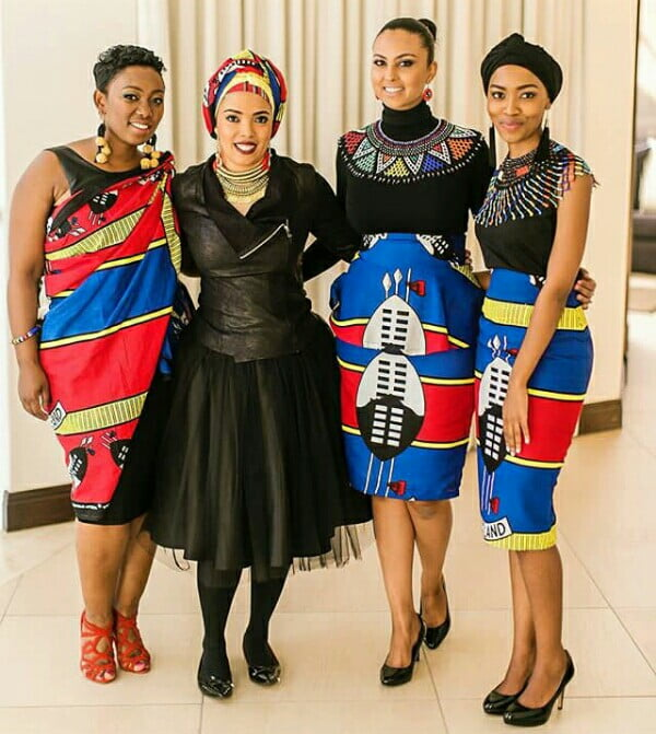 Sarah Langa And Bridesmaids In Modern Swati Emahiya