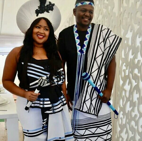 South African Man In Xhosa Umbhaco Traditional Wedding