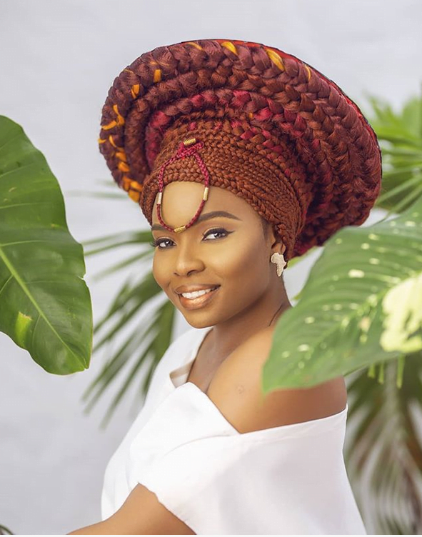 Yemi Alade Looking Lovely in her Wrapped Braids Hairstyle ...